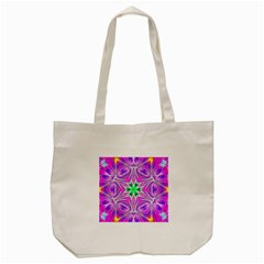 Kaleido Art, Pink Fractal Tote Bag (Cream)