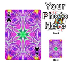Kaleido Art, Pink Fractal Playing Cards 54 Designs