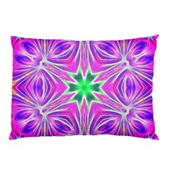 Kaleido Art, Pink Fractal Pillow Cases