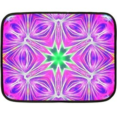 Kaleido Art, Pink Fractal Fleece Blanket (Mini)