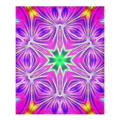 Kaleido Art, Pink Fractal Shower Curtain 60  X 72  (medium)