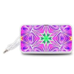 Kaleido Art, Pink Fractal Portable Speaker (White)
