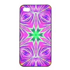 Kaleido Art, Pink Fractal Apple Iphone 4/4s Seamless Case (black)
