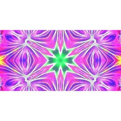 Kaleido Art, Pink Fractal You Are Invited 3d Greeting Card (8x4)