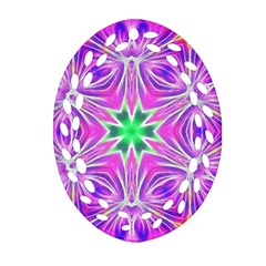 Kaleido Art, Pink Fractal Ornament (Oval Filigree)