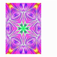 Kaleido Art, Pink Fractal Small Garden Flag (two Sides)