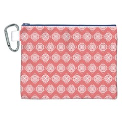 Abstract Knot Geometric Tile Pattern Canvas Cosmetic Bag (XXL)