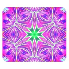 Kaleido Art, Pink Fractal Double Sided Flano Blanket (Small)