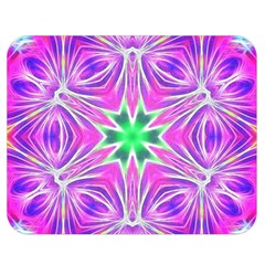 Kaleido Art, Pink Fractal Double Sided Flano Blanket (medium)