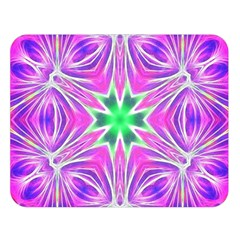 Kaleido Art, Pink Fractal Double Sided Flano Blanket (Large)