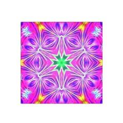 Kaleido Art, Pink Fractal Satin Bandana Scarf