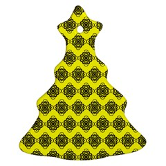 Abstract Knot Geometric Tile Pattern Christmas Tree Ornament (2 Sides)