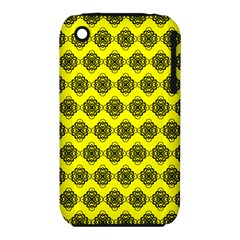Abstract Knot Geometric Tile Pattern Apple Iphone 3g/3gs Hardshell Case (pc+silicone)