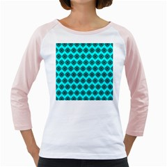 Abstract Knot Geometric Tile Pattern Girly Raglans