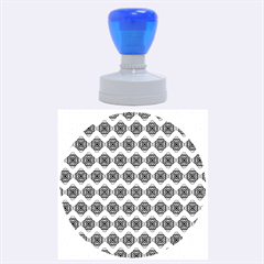 Abstract Knot Geometric Tile Pattern Rubber Round Stamps (large)