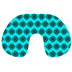 Abstract Knot Geometric Tile Pattern Travel Neck Pillows
