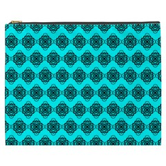 Abstract Knot Geometric Tile Pattern Cosmetic Bag (xxxl)