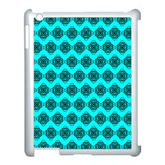Abstract Knot Geometric Tile Pattern Apple Ipad 3/4 Case (white)