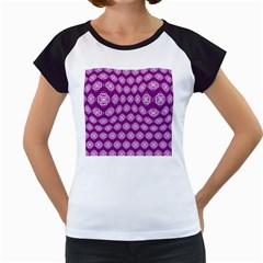 Abstract Knot Geometric Tile Pattern Women s Cap Sleeve T
