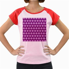 Abstract Knot Geometric Tile Pattern Women s Cap Sleeve T-Shirt