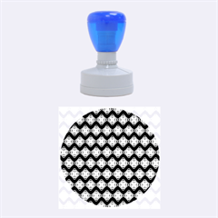 Abstract Knot Geometric Tile Pattern Rubber Round Stamps (Medium)