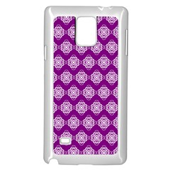 Abstract Knot Geometric Tile Pattern Samsung Galaxy Note 4 Case (white)