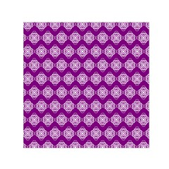Abstract Knot Geometric Tile Pattern Small Satin Scarf (Square)