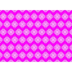 Abstract Knot Geometric Tile Pattern Birthday Cake 3D Greeting Card (7x5)