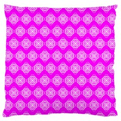 Abstract Knot Geometric Tile Pattern Large Flano Cushion Cases (two Sides)