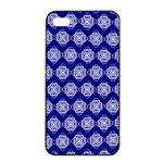 Abstract Knot Geometric Tile Pattern Apple iPhone 4/4s Seamless Case (Black) Front