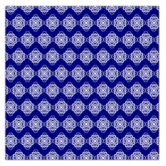 Abstract Knot Geometric Tile Pattern Large Satin Scarf (Square)