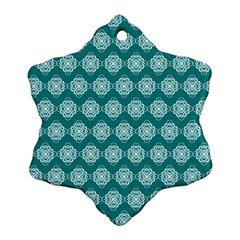 Abstract Knot Geometric Tile Pattern Snowflake Ornament (2 Side)