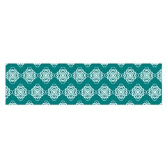 Abstract Knot Geometric Tile Pattern Satin Scarf (Oblong)