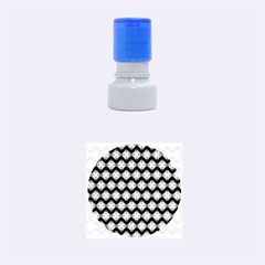 Abstract Knot Geometric Tile Pattern Rubber Round Stamps (Small)