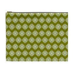Abstract Knot Geometric Tile Pattern Cosmetic Bag (xl)
