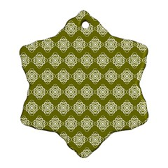 Abstract Knot Geometric Tile Pattern Snowflake Ornament (2-Side)