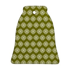 Abstract Knot Geometric Tile Pattern Bell Ornament (2 Sides)
