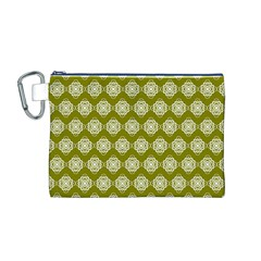 Abstract Knot Geometric Tile Pattern Canvas Cosmetic Bag (M)