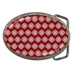 Abstract Knot Geometric Tile Pattern Belt Buckles