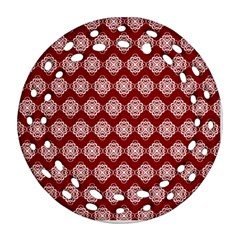 Abstract Knot Geometric Tile Pattern Ornament (Round Filigree)