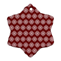 Abstract Knot Geometric Tile Pattern Ornament (Snowflake)