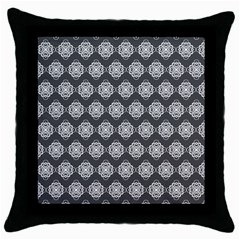 Abstract Knot Geometric Tile Pattern Throw Pillow Cases (black)