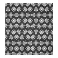 Abstract Knot Geometric Tile Pattern Shower Curtain 66  x 72  (Large)