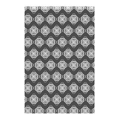 Abstract Knot Geometric Tile Pattern Shower Curtain 48  x 72  (Small)