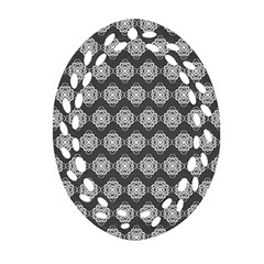 Abstract Knot Geometric Tile Pattern Ornament (oval Filigree)