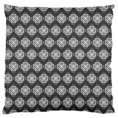 Abstract Knot Geometric Tile Pattern Large Flano Cushion Cases (one Side)