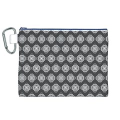 Abstract Knot Geometric Tile Pattern Canvas Cosmetic Bag (xl)
