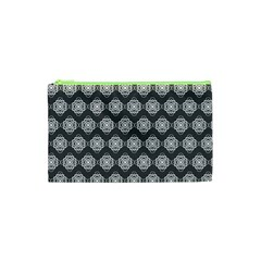 Abstract Knot Geometric Tile Pattern Cosmetic Bag (xs)