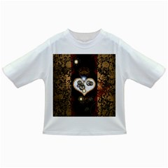 Steampunk, Awesome Heart With Clocks And Gears Infant/toddler T Shirts