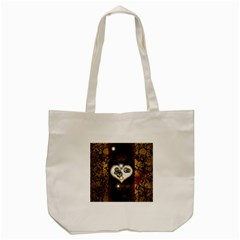 Steampunk, Awesome Heart With Clocks And Gears Tote Bag (cream)